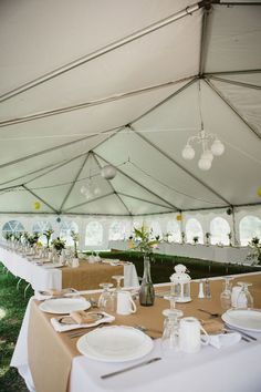 Eva and Craig's Ontario Country Manor Wedding on @intimatewedding Photography by Jennifer Ballard #tentedwedding #outdoorwedding #intimatewedding