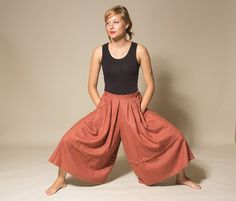 Wide legs pants / Palazzo Pants  / High waist culottes / Wool Culottes / Warm culottes / size small on Etsy, $27.00