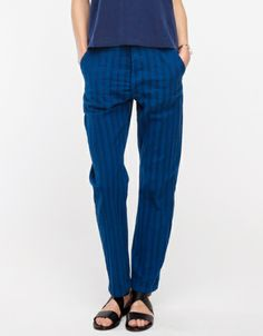 Escapade Pant in Indigo Stripe
