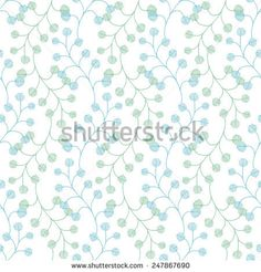 Floral seamless pattern. Vector hand drawn texture. Background for web pages, invitations, save the date cards.