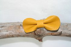 Barette noeud en cuir ocre : Accessoires coiffure par melija
