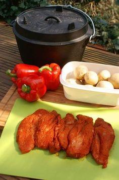 Zutaten für Pulled Chicken aus dem Dutch Oven