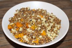 Salade d'automne #1 : lentilles, potimarron et tofu