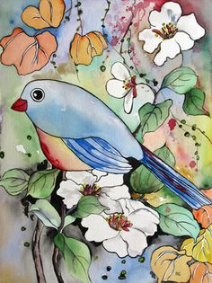 Chubby Bird Watercolor Painting by Watercolor & Photography, via Flickr