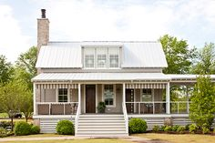 Fontanel Farm House - Carriage House Addition Southern Living Plan Carriage House Exterior Front View of Idea House Lake House Plans, Dream House Plans, Cottage Plan, Cottage Homes, Future House, My House, Farm House, Southern Living Homes, Coastal Living