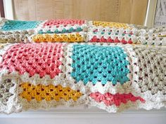 Traditional granny blanket pattern.