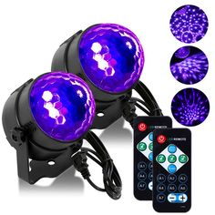 Sound Activated Party Lights With Remote Control Dj Lighting Rbg Disco Ball Strobe Lamp 7 Modes Stage Par Light For Home Room