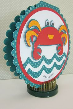 cards made with cricut cartridge pack your bags   ve always loved this lobster on the cricut pack