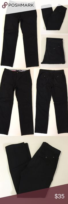 [Tommy Hilfiger] men's black slim fit pants 34/32 [Tommy Hilfiger] men's black slim fit pants 34/32 •🆕listing •good pre-owned condition •black color •4 pockets •slim fit style •size 34/32 •material 100% cotton •offers and bundles welcomed using the features Tommy Hilfiger Pants