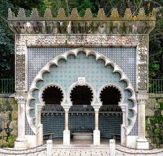 Gorgeous Moorish architecture in Sintra, Portugal