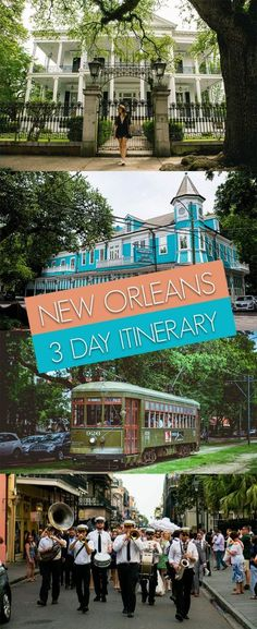 The Perfect Itinerary for 3 Days in New Orleans - Bobo and ChiChi Looking for a perfect 3 days in New Orleans itinerary? New Orleans is a must-visit city while traveling or living in the US. Vacation Destinations, Dream Vacations, Vacation Spots, Vacation Ideas, Nola Vacation, Couples Vacation, Greece Vacation, Mini Vacation, Vacation Places
