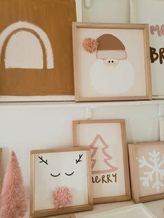 Felt Christmas Decorations, Christmas Wall Art, Simple Christmas, Winter Christmas, Xmas, Winter Holidays, Bohemian Christmas, Christmas Inspiration, Holiday Crafts