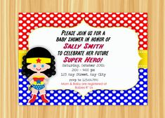 Custom Printable WONDER WOMAN Super Hero by ThePaperGiraffeShop, $10.00