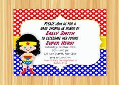 Custom Printable WONDER WOMAN Super Hero by ThePaperGiraffeShop, $10.00