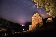 Nightsky of Cosica - A ruin near Porto on the west coast of Corsica. It was a wunderful night and i hope you also enjoy it!