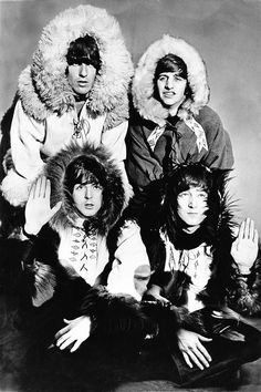 The Beatles dressed as Eskimos at the Hammersmith Odeon, London, December 1964…