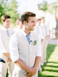 Casual Groom Style. Like this better than a tux