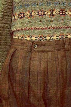 British style..... Tweeds and Fair Isle