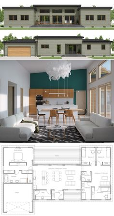 Small House Plan, Small Home Plan, Small House Design #smallhousedesign #smallhomeplans #homeplans #houseplans Modern House Plans, Dream House Plans, House Floor Plans, Small Floor Plans, Small House Plans, Minimalist House Design, Small House Design, Sims 4 House Building, Simple Living Room Decor
