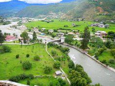 A view of Paro from Paro Rinphung Dzong, Bhutan