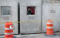Concrete Confessional by Banksy, graffiti/street art - Better Out Than In: An artists residency on the streets of New York. Street Art Banksy, Banksy Art, Bristol, London Calling, Banksy New York, Stencilling Techniques, Shows In Nyc, National Gallery, Bansky
