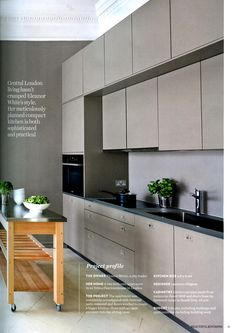 Practical, compact, central London kitchen, designed by Laurence Pidgeon http://laurencepidgeon.com Beautiful Kitchens Dec-Jan 2013
