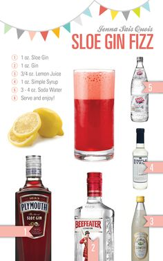 Cocktail Hour: Sloe Gin Fizz