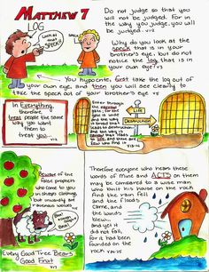 Doodle Through The Bible: Matthew 7 Illustrated Faith Journal entry for Good Morning Girls (GMG) Bible Study