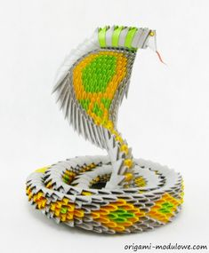 Modular Origami Snake #1 by origamimodulowe on DeviantArt
