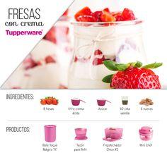 Fresas con crema al estilo #Tupperware: https://www.facebook.com/TupperwareMexico/photos/a.1206305146048128.1073741914.316854218326563/1206306106048032/?type=3&theater