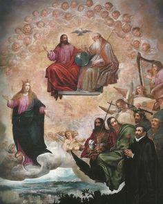 Juan de Roelas - San Ignacio de Loyola ante la Inmaculada y la Trinidad
