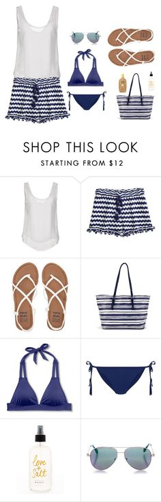 """Summer beach outfit"" by winniehorner on Polyvore featuring Le Ragazze Di St. Barth, Calypso St. Barth, Billabong, Mossimo, New Look, Cutler and Gross and Sun Bum"