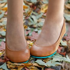 Luxurious Chestnut leather ballet flats from Tieks by Gavrieli.