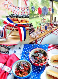 Independence Day 4th of July themed party via Kara's PArty Ideas KarasPartyIdeas.com #independenceday #happy4thofjuly #karaspartyideas #fire...