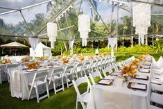 Outdoor wedding reception decorations in category Wedding Ideas Outdoor Wedding Reception, Outdoor Wedding Decorations, Wedding Receptions, Table Decorations, Traditional Wedding Decor, African Traditional Wedding, Clear Tent, Hawaii Wedding, Wedding Wishes