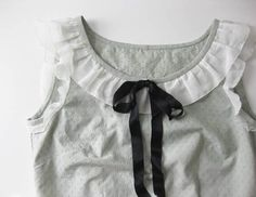 View details for the project 1930s-style Ruffle Blouse on BurdaStyle.