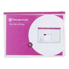 OfficeMax PVC Zip-Lock Pouch Pink