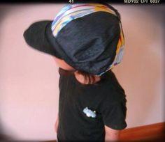 ソーイング:スカート→子供の帽子にリメイク