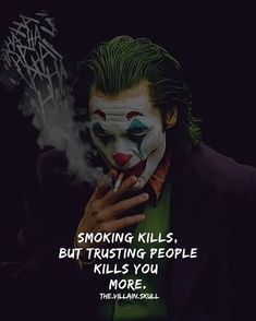 For more attitude quotes like this visit our website. Good Heart Quotes, Attitude Quotes For Boys, Alone Quotes, Reality Quotes, Heath Ledger Joker Quotes, One Line Quotes, Motivational Quotes For Men, Trusting People, Missing Quotes