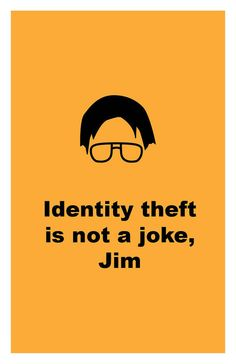 The Office - Identity theft is not a joke - Poster Wall Art DIY Printable PDF on Wanelo