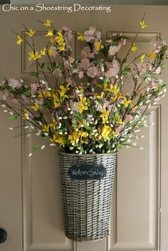 Chic on a Shoestring Decorating: Spring Front Door Decor
