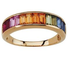Premier 1.75 ct tw Colors of Sapphire Band Ring, 14K