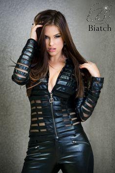 Sexy Biatch Mesh Leatherette Jacket in Stock next week!!