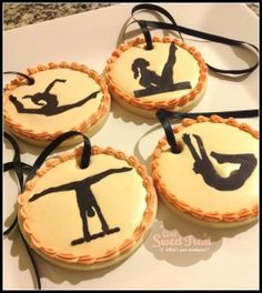 Gymnastics medal cookies