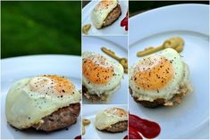 Paleo Eggs Over-easy Over Meat