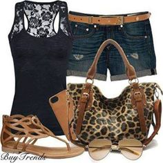 Casual summer outfit just the tank, shorts, and sandals. Cute Summer Outfits, Summer Wear, Spring Summer Fashion, Cute Outfits, Summer Time, Summer Clothes, Casual Summer, Summer Fun, Summer Days