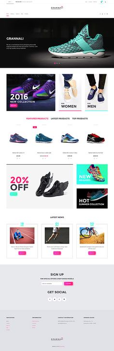 Trendy Sneakers Online Store #Virtuemart #template. #themes #business #responsive