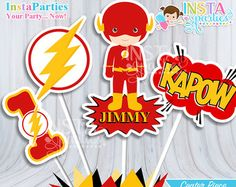 the flash superhero party supplies – Etsy