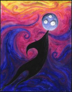 "Tim Burton. (American, b. 1958), Untitled (Creature Series). 1997-1998. Pastel on paper, 14 x 11"", Private collection. © 2009 Tim Burton."