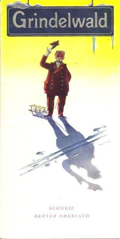 vintage Grindelwald ski poster...I just love the sunlight in this one.